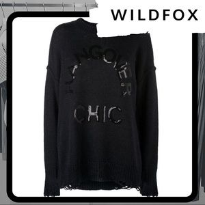 🆕⭐️ NWT WILDFOX Hangover Cozy Distressed Sweater